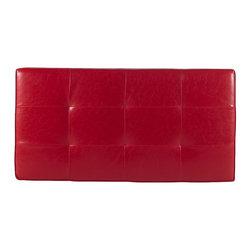 Cheryl - red vinyl top - Cheryl Bench: 62″ 32″ 18″