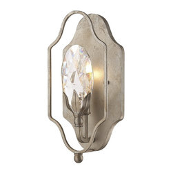 Savoy House - Hyde Park Sconce - One of Londons largest and most beautiful parks is the namesake for this glamorous, elegant Hyde Park collection, designed by Federico Martinez for Savoy House. Finished in iridescent Argentum with lights ensconced in large crystals and metal candle covers.