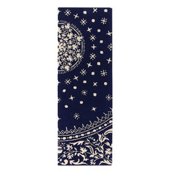 """Thomas Paul - Rugs Souk, Indigo and Cream, 2'6"""" X 7'6"""" Runner - Designed by Thomas Paul, part of the Thomas Paul Rugs Collection. Tufted pile. Made in India."""