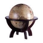 iMax - Globe on Stand - Test your geography skills with the desk globe on wood stand.