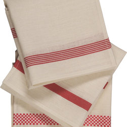 Libeco - Histoire de Torchon Tea Towels  ( set of 3 ) - Beautiful Simplicity.  A vintage inspired set of 3 very pretty, Torchon kitchen tea towels in three different stripes- 1 per stripe included.