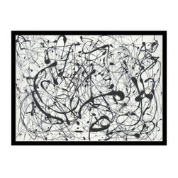 """Number 14: Gray Framed Wall Art by Jackson Pollock - 29.04W x 21.41H in. - About Amanti ArtAmanti Art, derived from the Italian way to say """"""""art lovers,"""""""" has the simple goal of creating an effective way to bring the love of art into everyone's homes. The company offers beautifully crafted frames and top-notch prints at an inexpensive price and with the highest convenience."""