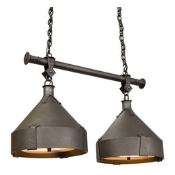 Steel Partners Inc - Anacosti Light - TRULLI - Double - Every piece we create is unique — handcrafted at our factory in Chehalis, Washington, USA. Due to this, lead times are 2 to 4 weeks.