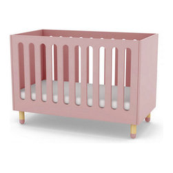 Play Baby Bed, Pink - The rounded organic shapes of the baby bed not only ensures your child's safety but it also brings a modern feel to the bed.