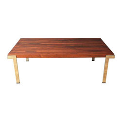 Vintage Rosewood Coffee Table by Milo Baughman - Dimensions 54.75ʺW × 30.13ʺD × 17.0ʺH