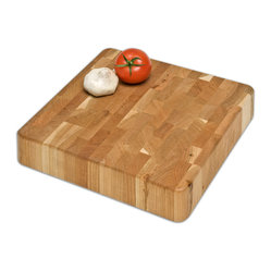 J.K. Adams - Cherry Chunk Board, 12 x 12 - Prized for patterns as well as the way its surface preserves knife blades, an end-grain cutting board is a crucial component in your kitchen. Choose from this selection of stunning cherry boards and start chopping like a true chef.