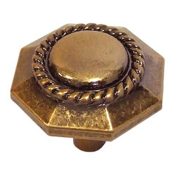 Ravel Antique Rose Gold Cabinet Knob