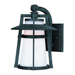 Joshua Marshal - One Light Satin White Glass Adobe Wall Lantern - One Light Satin White Glass Adobe Wall Lantern