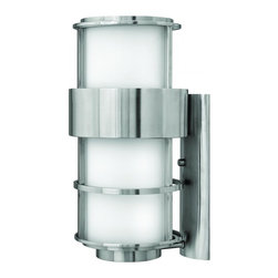 Hinkley - Hinkley Saturn One Light Stainless Steel Outdoor Wall Light - 1905SS - This One Light Outdoor Wall Light is part of the Saturn Collection and has a Stainless Steel Finish. It is Outdoor Capable, and Wet Rated.