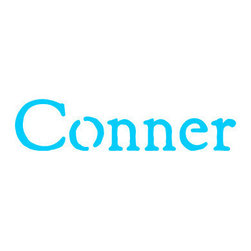 Stencil Ease - Conner Stencil - Conner - Rustic Style Name Stencil Popular Kid's Names for stenciling rooms furniture clothes bags and school supplies. Purchase a durable reusable laser cut plastic stencil with your childs name to use for any stenciling project. Name stencils will last for years and can be used on any surface. These reusable name stencils can be colored with any kind of paint chalk ink spray stain or coloring. Have fun stenciling your kid's room new and old furniture basement walls floors or team clothing.  below Letter heights are based on ascenders and descenders (extend above mid-line and below baseline).