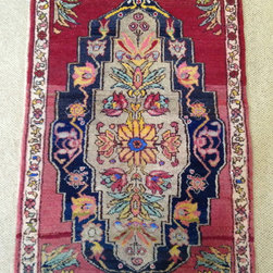 """2'10""""x4'10"""" West Anatolian - I've got an extra fun Rug of the Day today! It's a little 2'10""""x4'10"""" West Anatolian rug, hand knotted in Turkey circa 1930.  Just one look and you know it is a one of a kind, vintage piece.  It has so much character, which to me, is what makes it so much fun!"""