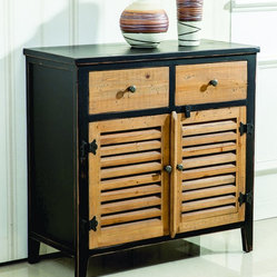 Shelburn Wood Cabinet Rustic Modern Style Antique