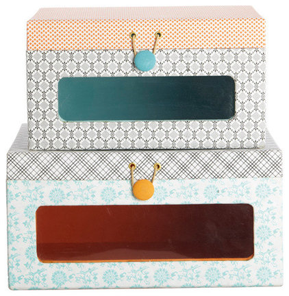 Contemporary Storage Boxes by Berry Red