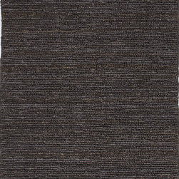 Jaipur Rugs - Natural Solid Pattern Hemp/Jute Gray /Black Woven Rug - CL11, 2x3 - The popular Calypso Collection is proof that simplicity is a wonderful approach to decoration. Crafted of natural jute, each rug is expertly woven by hand to our impeccable standards of quality for a relaxed feel of comfort. In rich colors ranging from eye-catching jewel tone to highly functional neutrals, the Calypso Collection will add texture and dimension wherever it is placed.