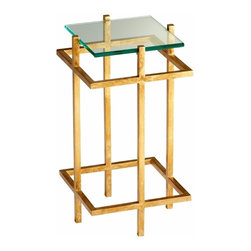 Gold Leaf Gallery End Table - *Gallery End Table