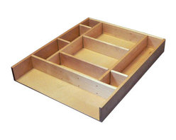 """Rev-A-Shelf - Rev-A-Shelf LD-4CT21-1 Wood Drawer Organizer Kit - The Rev-A-Shelf LD-4CT21-1 Wood Drawer Organizer Kit is all about customization. This solid birch insert kit allows you to accommodate a wide range of different kitchen items, and is very easy to assemble. This drawer organizer kit comes with 26 clips, which can be inserted into any of the pre-drilled holes for optimal versatility. The kit also includes wood dividers to help separate kitchen utensils exactly the way you want to. And as your storage needs change with time, it's simple to alter to meet those needs. Plus, the solid birch wood clear UV-cured coating creates a beautiful finish that will look fabulous for many years to come. Designed for a base 18 drawer. Size specifications: 15-3/8"""" W x 19-1/8"""" D x 2-1/2"""" H."""