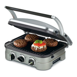 Cuisinart - Cuisinart GR-4N Griddler - This Cuisinart Griddler features five separate cooking options and can handle everything from pancakes to sausages to grilled cheese to steaks to hamburgers to panini. temperature controls ensure everything is perfectly cooked.