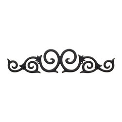 Hardware Resources - Traditional Metal Onlays - 25 in. x 5 3/8 in. x 1/2 in. Metal (Iron) Onlay.