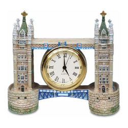 WL - 2.75 Inch London England Brick Tower Bridge Shaped As Mini Clock - This gorgeous 2.75 Inch London England Brick Tower Bridge Shaped As Mini Clock has the finest details and highest quality you will find anywhere! 2.75 Inch London England Brick Tower Bridge Shaped As Mini Clock is truly remarkable.