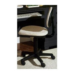 Vaughan Bassett - Upholstered Desk Chair in Black & White - Swivel type chair. Upholstered seat and back rest. Assembly required. 21 in. L x 20 in. W x 35 in. H