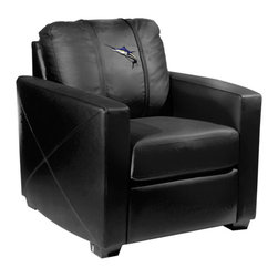 Dreamseat Inc. - Marlin Xcalibur Leather Arm Chair - Check out this incredible Arm Chair. It's the ultimate in modern styled home leather furniture, and it's one of the coolest things we've ever seen. This is unbelievably comfortable - once you're in it, you won't want to get up. Features a zip-in-zip-out logo panel embroidered with 70,000 stitches. Converts from a solid color to custom-logo furniture in seconds - perfect for a shared or multi-purpose room. Root for several teams? Simply swap the panels out when the seasons change. This is a true statement piece that is perfect for your Man Cave, Game Room, basement or garage.
