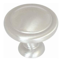 Amerock - Solid Brass Reflections Knob - Satin Nickel (Set of 10) - Amerock Reflections Knob. Satin Nickel. Lifetime Finish. 1-1/4 in. W x 1-1/16 in. H (0.17 lbs)