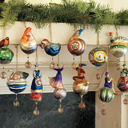 Twelve Days of Christmas Ornaments, Set of 12 - Celebrate the 12 days of Christmas with this lovely set of numbered ornaments. I just love that little partridge — so cute!