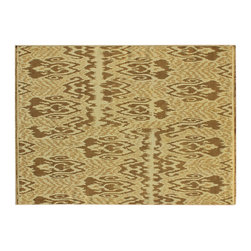 100% Wool Flat Weave Soumak Ikat Style Hand Woven 9'X12' Oriental Rug SH6124 - Hand Knotted Ikat & Suzani Rugs are bold and usually the focal point of the room.  The design is large and is all highly in demand by designers.