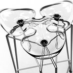 Diamond Counter Stool by Kubikoff - Gorgeous from every angle, the Diamond stool is especially interesting from a bird's eye view. This little stool is brilliantly designed and has a small footprint so it's absolutely perfect for small space living, especially the crystal clear version shown here. It hardly takes up any visual space at all.