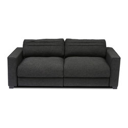 Bryght - Vani Modular Loveseat - The Vani loveseat depicts the quintessential modern day furniture design, with its smooth line proportions, smart angled backs and sumptuous liquorice upholstery. The Vani collection offers a wide array of configurable options that allow you the flexibility to arrange your living space with ease and style.