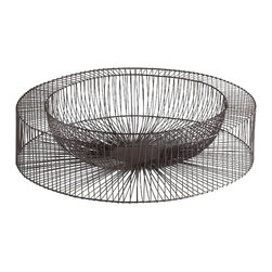 Cyan Design - Wire Wheel Tray - Large - Large wire wheel tray - graphite