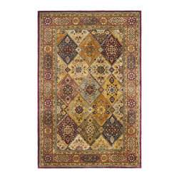 """Safavieh - Persian Legend Red/Maroon Area Rug PL512A - 4'6"""" x 6'6"""" Oval - Inspired by the legendary designs of Persia's most prestigious rug-weaving capitals, these extraordinary reproductions recreate some of the most prized antiques in Safavieh's archival collection. Intricate Tabriz, Lavar Kerman and Isfahan hand-knotted motifs are remarkably adapted to these hand-tufted rugs of incomparable quality. The finest New Zealand wool is chosen to achieve the intricate weave of these carpets. With utmost attention to every detail, Safavieh creates its Persian Legends Collection in India to provide consumers an exquisite yet affordable artisan-crafted look."""