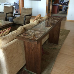 Mahogany & Petrified Stone Furniture Suite -