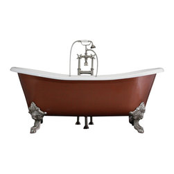 "Penhaglion - The Welbeck 73"" Cast Iron Slight Double Slipper Bateau Tub from Penhaglion - Product Details"
