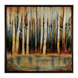 Ren-Wil - Ren-Wil OL425 First Signs of SpringPatrick St. Germain Collection - Luminous, jewel-like undertones glow in this unique piece. Here silver leaf, wax and high gloss finishes along with a rich brown frame lend to a sophisticated and highly original work.