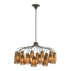 Arteriors - Seasal Chandelier - What an inspired use of sisal! This 20-light chandelier, ideal to illuminate your favorite casual space, features durable natural fiber wrapped around metal frames for a refreshing, rustic vibe.