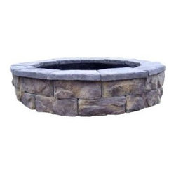 Fossill Stone Limestone 30 Fire Pit Kit - This DIY pit is more in the mid-level price range. I actually like this one a lot for its rustic look and natural stone colors. I would just maybe build it another row higher.