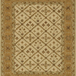 """Loloi Rugs - Loloi Rugs Walden Collection - Beige / Gold, 5'-0"""" x 7'-6"""" - Reimagine traditional styling with the sumptuously textured Walden Collection. These elegant, classic designs apply historic rug motifs in fresh, nuanced ways, creating timeless looks with modern appeal. Handcrafted in India in a cut-and-loop, high-low construction, each wool Walden design enjoys an airy, open pattern that is punctuated with texture and complemented with a palette perfect for today's lifestyles. If you thought you knew traditional, take a another look. Walden will surprise you.��"""