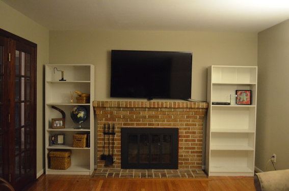 Bookshelves Beside Fireplace ~ What type of bookshelves beside fireplace