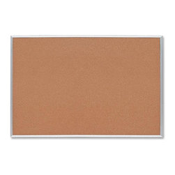"""Sparco - Sparco Cork Board, 18""""x24"""", Cork Surface, Silver Aluminum Frame - Corkboard features thick cork that is laminated to sturdy fiberboard with a sealed back. Design provides long-lasting service and prevents warping. Cork is 0.8mm thick with an 8.5mm backing. Pushpins and tacks penetrate easily and hold firmly. Corkboard has an aluminum frame and factory-mounted hangers."""