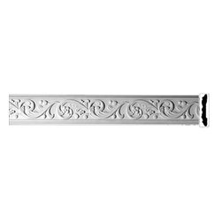 "Renovators Supply - Crown Moldings Urethane Catherine Wheel Crown Molding - Ornate | 20405 - Crown Moldings: Made of virtually indestructible high-density urethane our crown molding is cast from steel molds guaranteeing the highest quality on the market. High-precision steel molds provide a higher quality pattern consistency, design clarity and overall strength and durability. Lightweight they are easily installed with no special skills. Unlike plaster or wood urethane is resistant to cracking, warping or peeling. Factory-primed our crown molding is ready for finishing.  Measures 79"" x 5""."