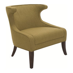 Sunpan - Sunpan Elliot Basil Chair - A stylish and elegant chair with a dramatic curved back that makes for an exceptionally comfortable seat. This chair has a beautiful basil color with espresso finished legs.
