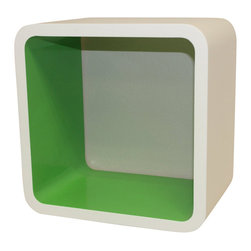 Welland - Cosmos Wall Cube Display Shelves, Green - Add a colorful pop to your room with this functional wall cube. Whether you're storing toiletries in the bathroom, supplies in your office, books in your bedroom or collectibles in the living room, this shelf is a fun addition to any space.
