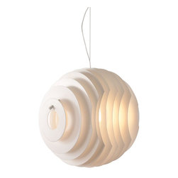 Zuo Modern - Zuo Modern Intergalactic Ceiling Lamp White - The intergalactic perfectly synchronized discs create a perfect sphere. The disks and base is white painted metal. The lamp is UL approved.