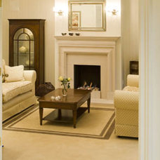 Traditional Living Room by Eily Roe Interiors