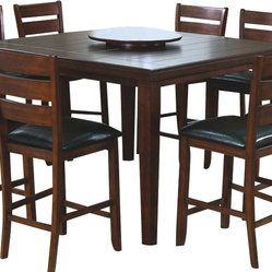 Monarch Specialties Monarch Specialties 54x54 Pub Dining Table w/ Lazy Susan
