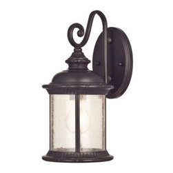 Westinghouse - Westinghouse Outdoor Lanterns. New Haven Wall-Mount 1-Light Outdoor Oil Rubbed B - Shop for Lighting & Fans at The Home Depot. Add warm, welcoming light to the exterior of your home with the Westinghouse New Haven Wall-Mount Outdoor Lantern. This fixture is constructed of sturdy steel and features an oil rubbed bronze finish, a dramatic scroll arm and a sculpted roof for an antique effect. Install this lantern in your front or back entryway or by your garage door. You can also use it as a welcoming accent for your porch, deck area, patio or balcony. The fixture is 13-1/4 in. x 6-1/2 in. (H x W) and extends 8-5/8 in. from the wall. It is 4-7/8 in. high from the center of the outlet box. The back plate is 4-3/4 in. in diameter .The fixture uses 1 medium-base bulb, 100-watt maximum (not included). This exterior fixture is UL listed for safety and is backed by a 5-year manufacturer's warranty against defects in materials and workmanship.