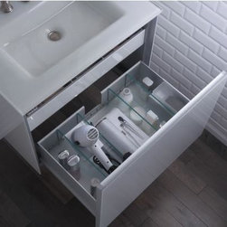 Bathroom Products - Who wishes their vanity was this organized? This one from ‪#‎robern‬ offers a hair dryer docking station allowing hair accessories to be kept in ready position and plugged in.