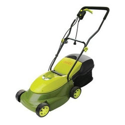 "Snow Joe - Electric Lawn Mower 14"" - Sun Joe Mow Joe 14"" Electric Lawn Mower for small lawns within 100 feet of electrical outlet, 12 Amp Motor. 0.8"" to 2.4"" cutting height, 3-position manual height adjustment, 10.6 gallon rear bag capacity, rear bag included. Hard top rear bag detaches easily for convenient disposal. Instant start, safety switch prevents accidental starting. No gas, oil or tune-ups make it effortless to start.Weight: 28 pounds, ETL approved."