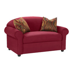 Savvy - Chicago Big Chair, Microsuede Cinnabar - The Chicago Big Chair is offered in three durable upholsteries.  The Chicago provides traditional styling with rolled arms and a sloping camel-back.